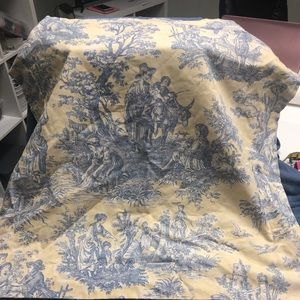 Country French Yellow & Blue Toile Shams 28 x 28.l